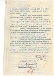 Kopie Nařízení Vrchního inspektora čs. dělostřelectva k organizaci protiletadlové služby, v němž zmiňuje nařízení NGŠ gen. Pellé ze 30. 3. 1920 k postavení (vytvoření) jednoho dělostřeleckého letadlového pluku