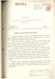 Kopie Rozkazu MNO ze 4. června 1960, v němž nařizuje zřízení vojska protivzdušné obrany, jako samostatného druhu vojska