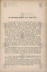DUNCKER, Carl von. Zur Capitulation Breslau´s am 3. Januar 1741