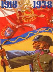 Čs. branná propaganda pracovala v roce 1938 s motivem vlastenců, kteří v minulé válce i krátce po ní vybojovali a uhájili samostatnost a celistvost státu. FOTO: VHÚ Praha