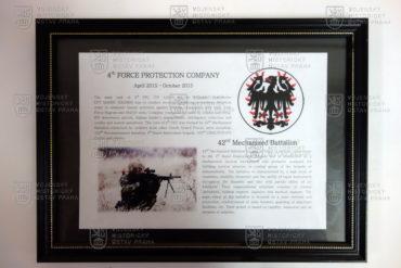 Pamětní deska 4. strážní roty Bagram Air Field