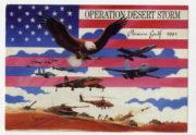 Dobová pohlednice operace Pouštní bouře