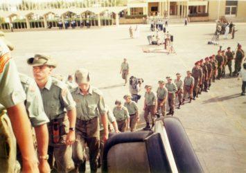 Odlet československých vojáků z Rijádu
