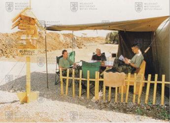 Pohled na místo pro odpočinek příslušníků AČR na základně během zahraniční operace Essential Harvest