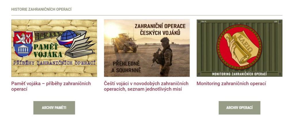 Historie zahraničních operací naší armády nyní přehledně a komplexně, na webu VHÚ