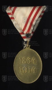 Čestné vyznamenání za zásluhy o Červený kříž, bronzová medaile (revers). FOTO VHÚ.