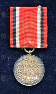 Německá Medaile Červeného kříže, 2. stupeň (revers). FOTO VHÚ.