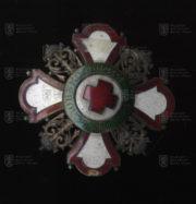 Bulharský Řád Za podporu lidskosti, I. třída – hvězda (středový medailon pootočený). FOTO VHÚ.