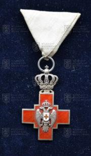 Kříž Společnosti Červeného kříže Srbského království 1876 – za službu v době míru (avers). FOTO VHÚ.