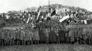 Prohlášení mobilizace v Padule v dubnu 1918.