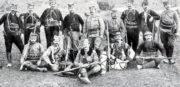 Příslušníci dobrovolnických oddílů srbské armády – komitů, v jejichž řadách bojovali i čeští dobrovolníci v Srbsku.