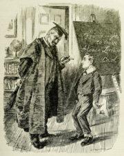 Návštěva císaře Karla ve štábu německé armády ve Spa na jaře 1918 se stala předmětem karikatur i v britském tisku, kde byl císař Karel zpodobněn jako malý školák, kterého kárá přísný učitel Vilém.