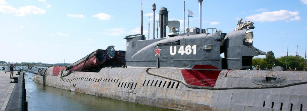 """""""Největší U-Boot muzeum světa"""". Ponorka třídy Juliett vněmeckém Peenemünde."""