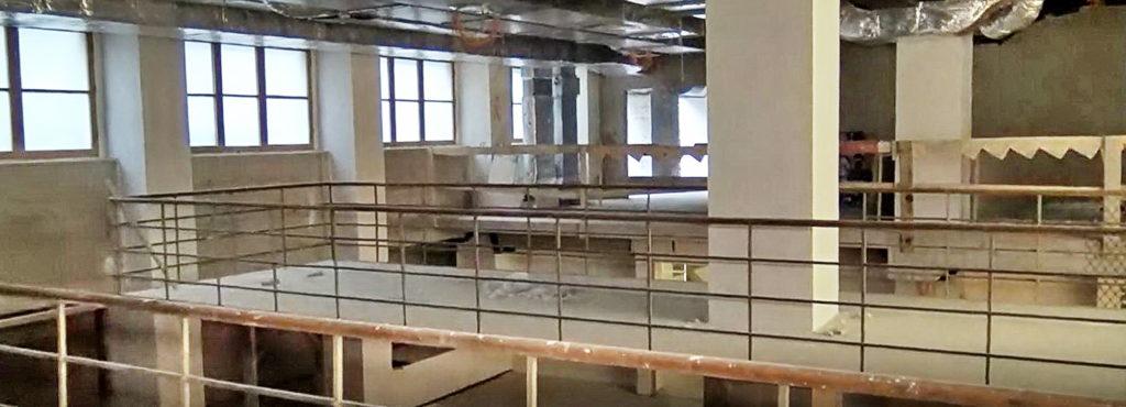 Videoukázky z rekonstrukce Armádního muzea Žižkov, budoucí foyer a expoziční i výstavní sály