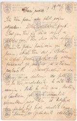 Dopis na rozloučenou před odjezdem na frontu