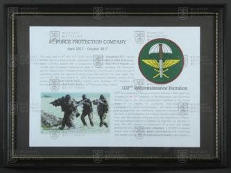 Pamětní deska 8. strážní roty Bagram Air Field