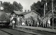 Čs. legionáři na stanici Miňjar, krátce po spojení jednotek.