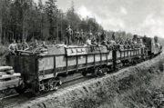 Pohled na čs. obrněný vlak.