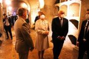 Německý prezident v prostorách krypty