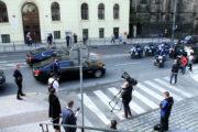 Odjezd německého prezidenta na Pražský hrad