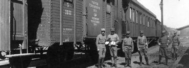 Legionářská polní pošta začínala v Rusku ve vagónech na uhlí a obilí