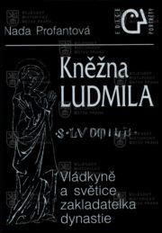 Přední desky knihy s vyobrazením svaté Ludmily.