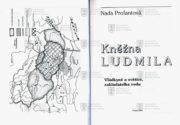 Titulní list a frontispis knihy, na němž je mapka českých zemí na přelomu 9. a 10. století.