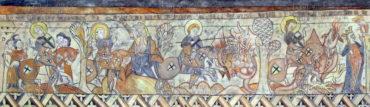Legenda o svatém Jiří – rytíři z Kappadokie, kopie fresky, 1959