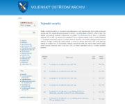 Pod záložkou Vojenské matriky je na webu VÚA–VHA k dispozici rozpis jednotlivých svazků se stručnou charakteristikou a odkazem do DSMO.