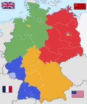 Čtyři okupační zóny poraženého Německa