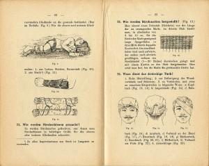 BURACZYŃSKI, Andreas. Leitfaden für Blessiertenträger. Wien : Josef Šafář, 1903. (Militärarzliche Publikationen, Nr. 74).
